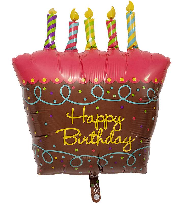 バースデーケーキとスター、ハート、大きなファーストバースデー【1才の誕生日のバルーン電報・女の子】