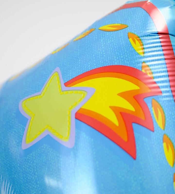 動物たちとブルー系プチバルーンと大きなファーストバースデー【1才の誕生日のバルーン電報・男の子】