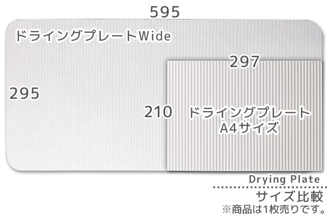 なのらぼ ドライングプレート Wide <Lサイズ> 【29.5cm×59.5cm】 nanokit (JAN:4589579940935)