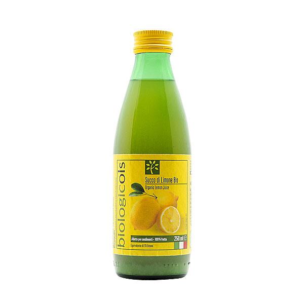 シチリア産有機レモン15個分生搾りストレート果汁 250ml 有機JAS認証