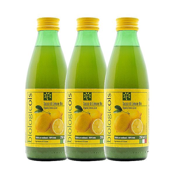 シチリア産有機レモン15個分生搾りストーレート果汁 有機JAS認証 250ml×3本【3本セット】