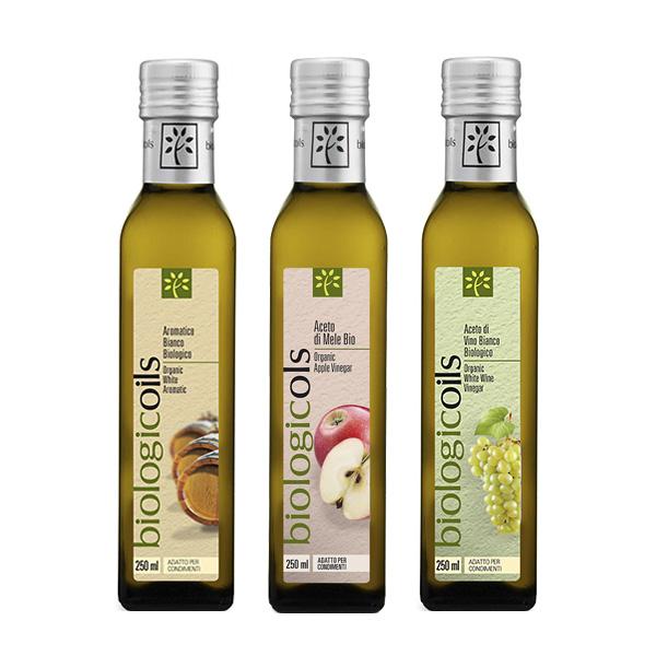 イタリア産有機りんご酢+有機バルサミコ酢赤+有機ワインビネガー(ぶどう酢)白の有機酢バラエティ3本セット250ml×3本
