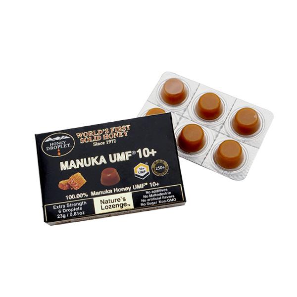 【メール便】ハニードロップレット100%UMFマヌカハニー(37ハニー)10+(のど飴)1箱6粒入 トレーサビリティ保証付き