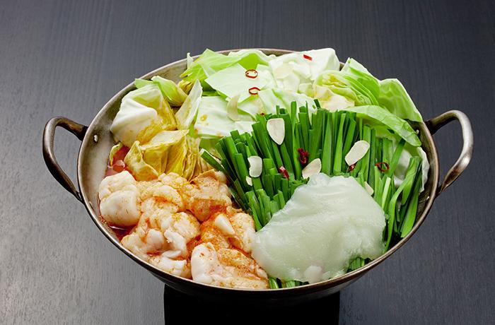 上田商店博多もつ鍋セット(辛味噌味) 【3人前】