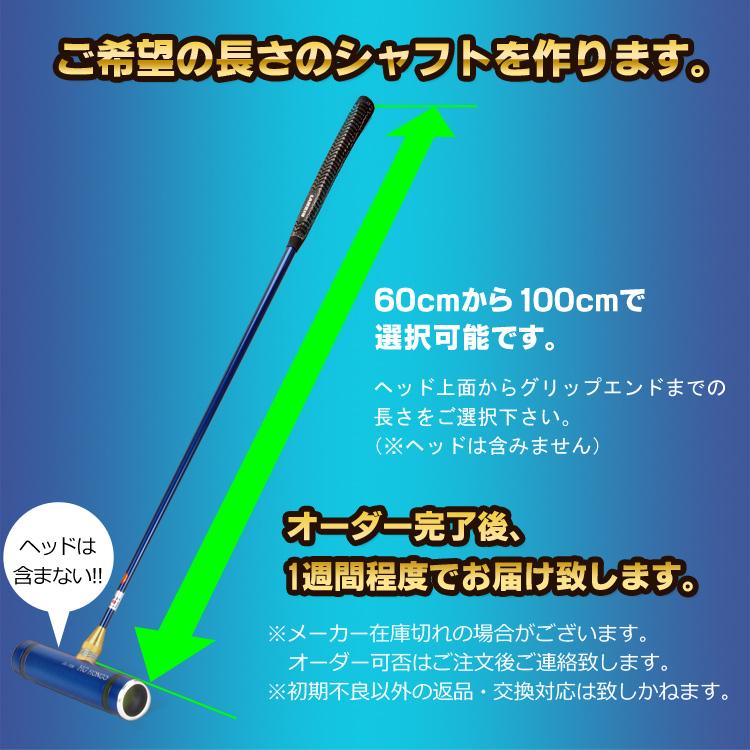 本郷 ソリッドカーボンシャフト:チタンシルバー SH1146(ゲートボール用品)【オーダー品】