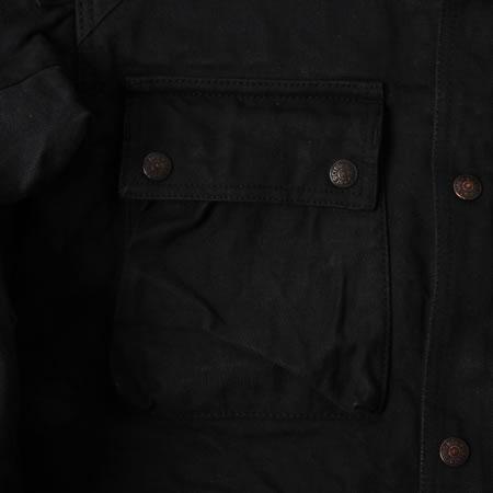 フード付きライディングジャケット ブラック