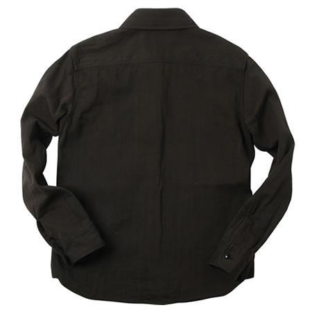 ムラサテンワークシャツ チャコールブラック