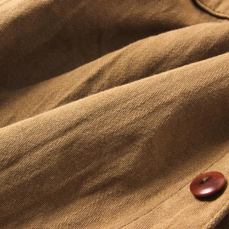 ムラサテンワークシャツ ブラウン