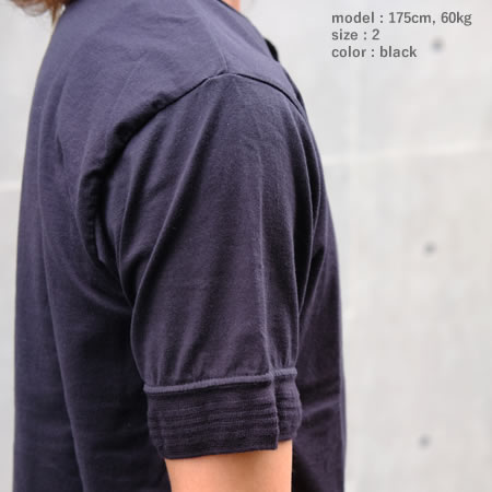 スーピマ ヘンリーネックTシャツ(全3色)