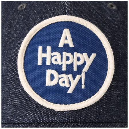 デニムキャップ A HAPPY DAY! ネイビー