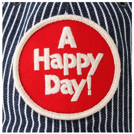 ヒッコリーキャップ A HAPPY DAY! レッド