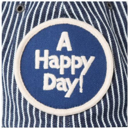 ヒッコリーキャップ A HAPPY DAY! ネイビー