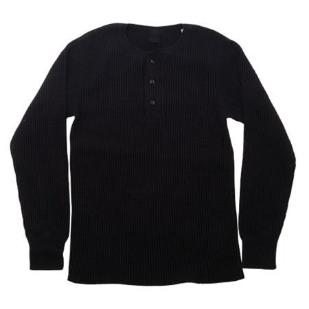 ビッグワッフル ヘンリーネックTシャツ