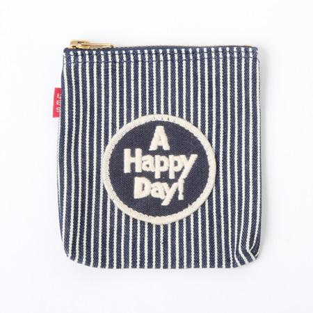 シガレットケース ヒッコリー A HAPPY DAY! ネイビー