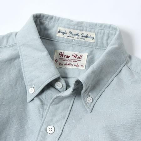 インディゴオックスシャツ