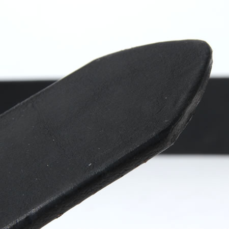 サークルバックル ベルト ブラック
