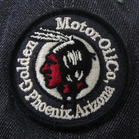 デニムキャップ MOTOR OIL ネイビー