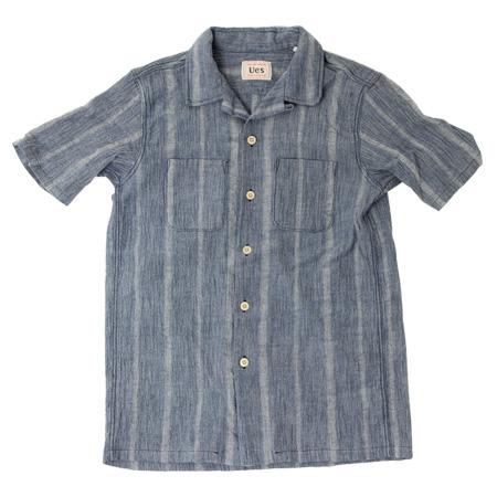 追撚開襟シャツ シャンブレー
