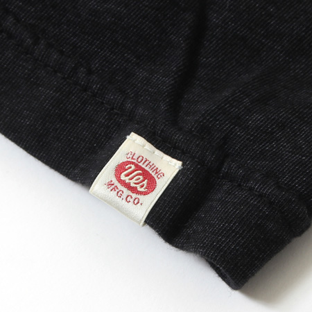硫化ブラック無地Tシャツ