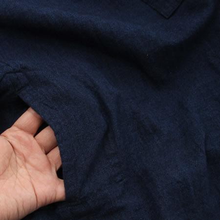 インディゴプルオーバーシャツ