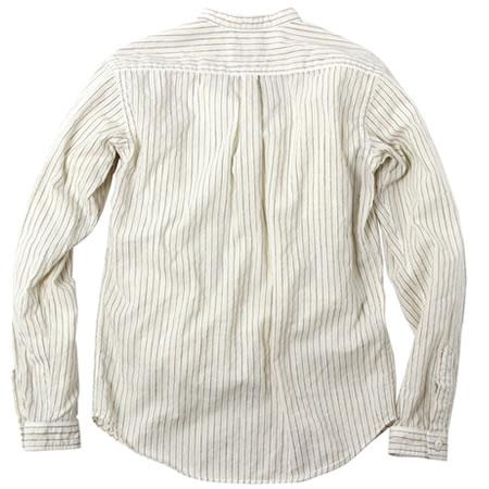 バンドカラーシャツ オフホワイト