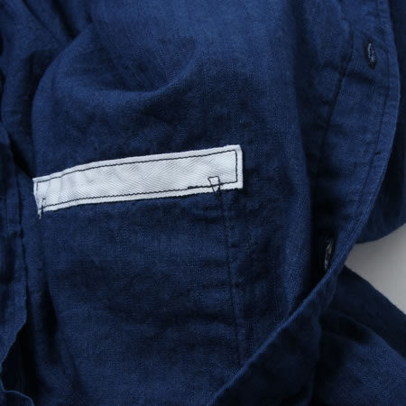 バンドカラーシャツ インディゴ