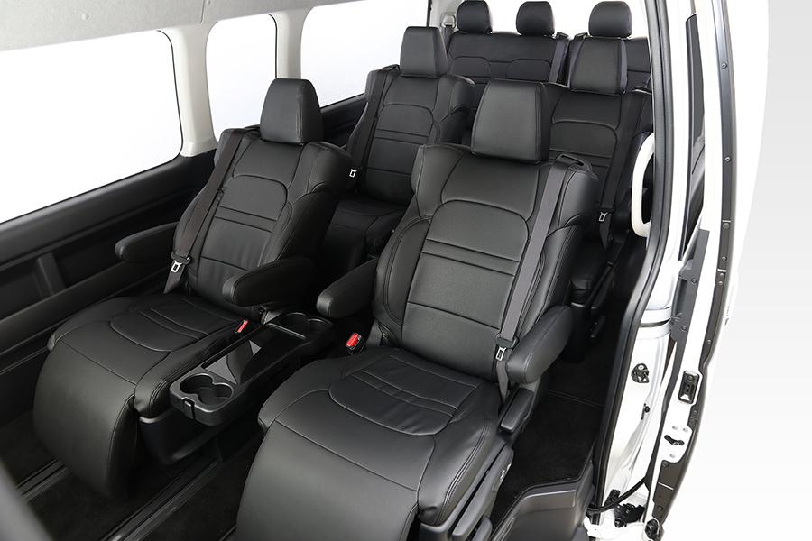 ハイエース200系 ファインテックツアラー レザーシートカバー 10席分(1台分) 4型後期用