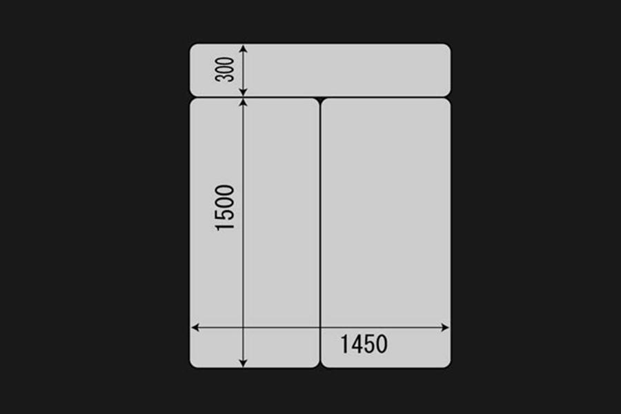 ハイエース 200系 標準ボディ用<br>マルチウェイ フォルドベッドキット