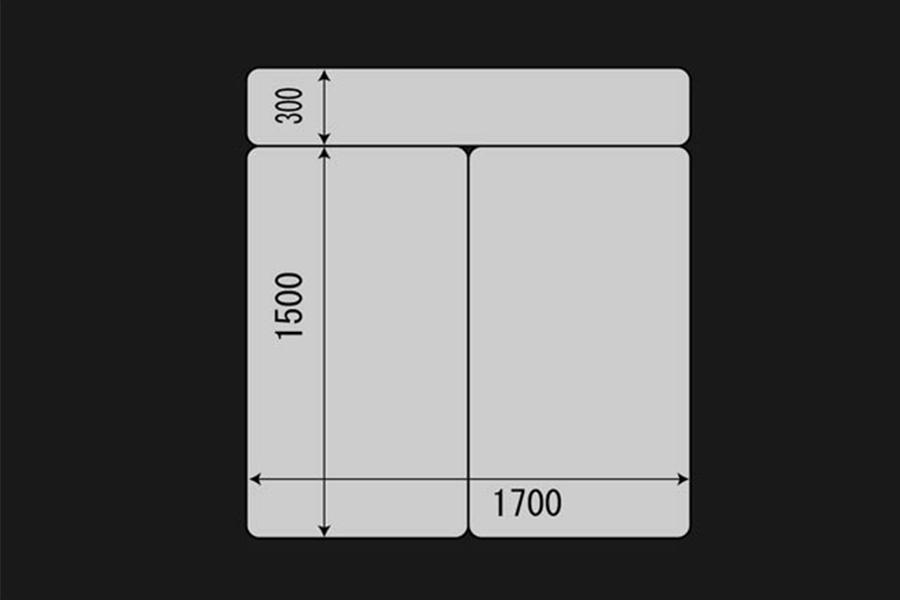 ハイエース 200系 ワイドS-GL用<br>マルチウェイ フォルドベッドキット