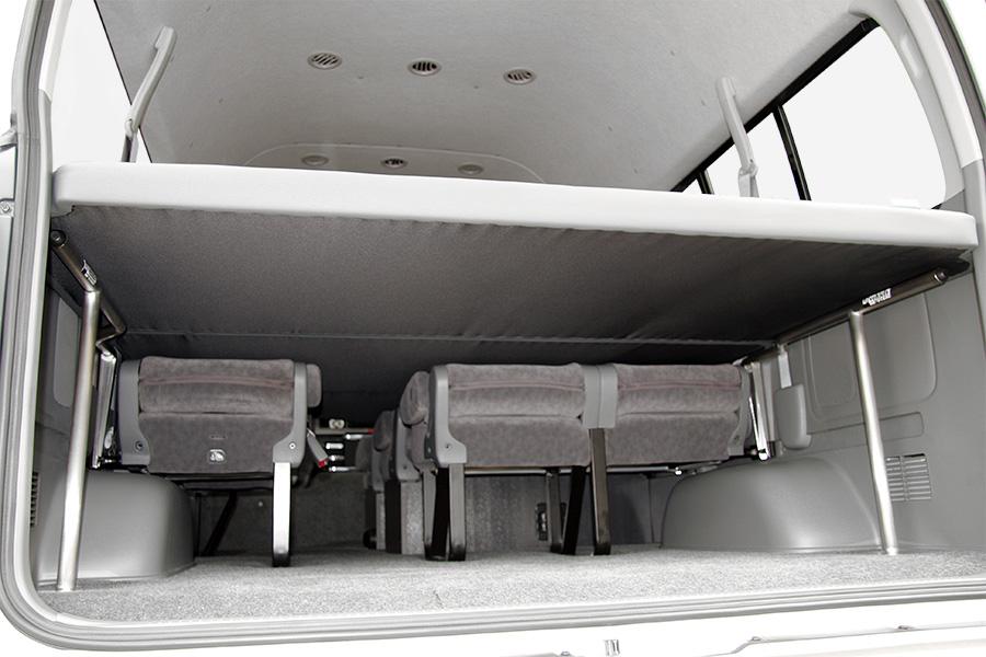 ハイエース 200系 グランドキャビン用<br>マルチウェイ ワゴンベッドキット<br>※ベッドカラーはブラックのみ