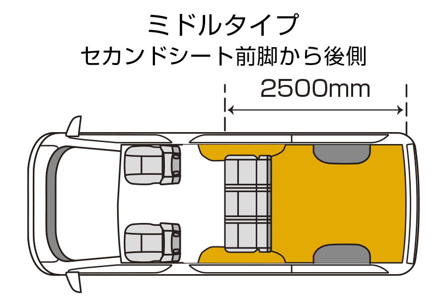 ハイエース 200系 標準ボディ用 / ワイドボディ用<br>CFカーゴマット<br>納期:注文確定後 3~4 週間