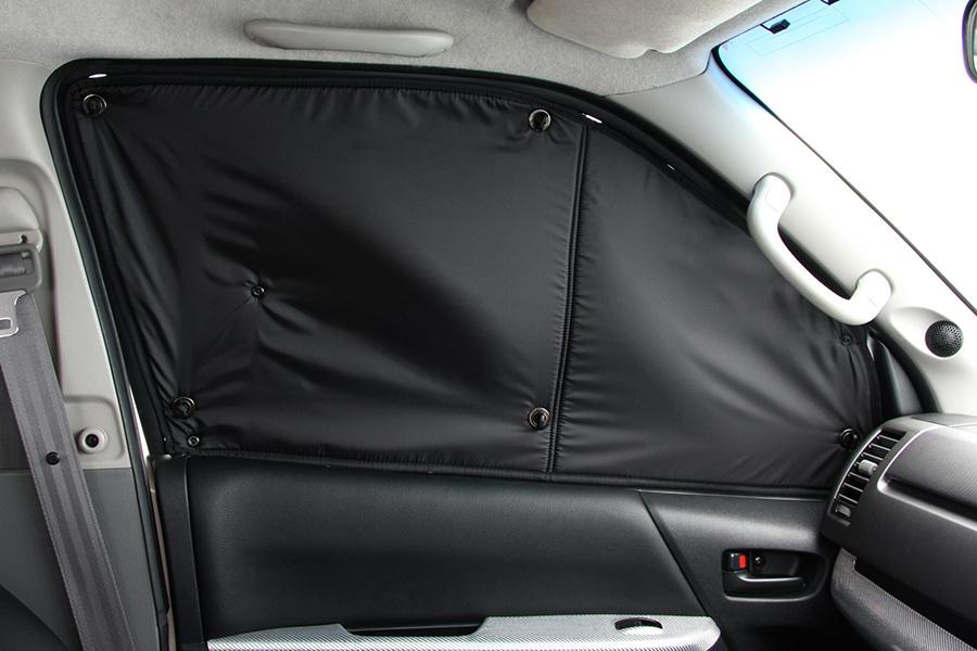 ハイエース 200系 標準ボディ用 / ワイドボディ用<br>遮光パッド フロント3面