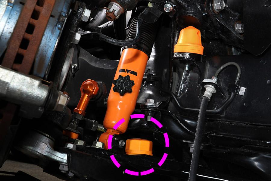 2WD用 / 4WD用フロントバンプストップ