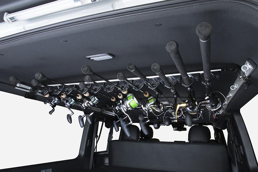ハイエース 200系<br> アルミスライドバー専用 ロッドホルダー