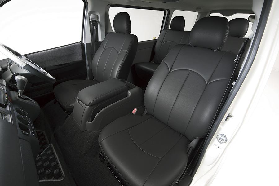 ハイエース 200系 標準・ワイド S-GL用<br>アウリコ レザーシートカバー フロント2席分<br>