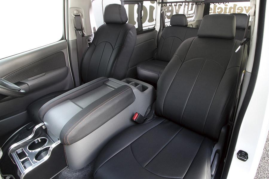 NV350 キャラバン プレミアムGX用<br>シートカバー(ブラック)