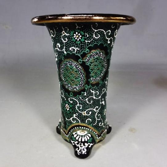 錦鉢 (45)愛楽園、梅花作4寸錦鉢