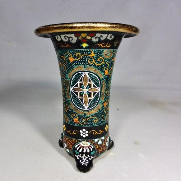 錦鉢(48)愛楽園製4.5寸梅花作鉢