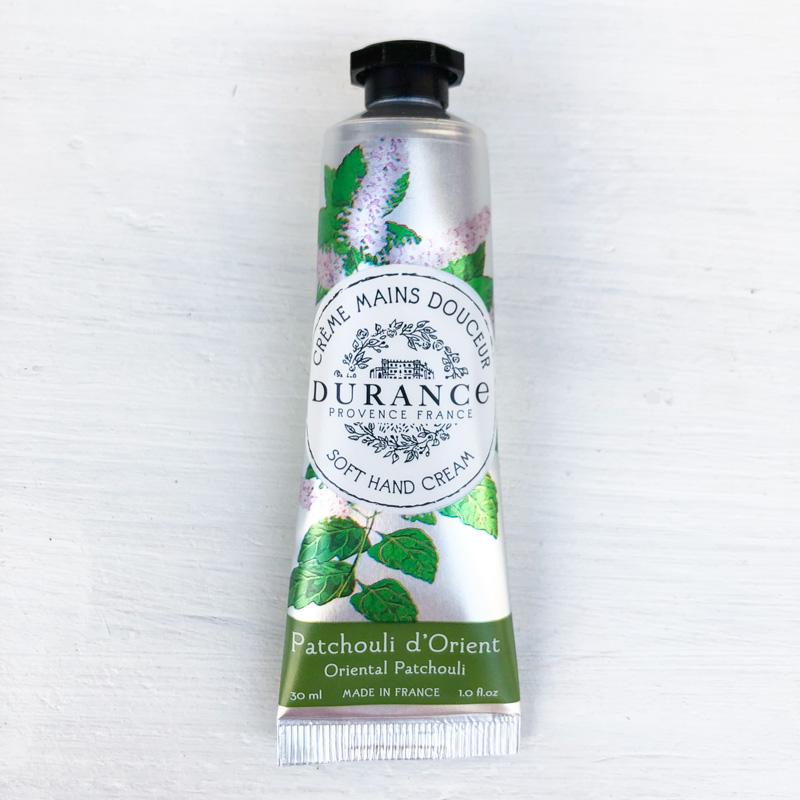 フランス製ハンドクリーム・パチュリの香り|オリーブオイルとアーモンドオイル配合|南仏プロヴァンス・エスプリデュランス【DURANCE】乾燥・保湿に。プチプラギフトにおすすめ