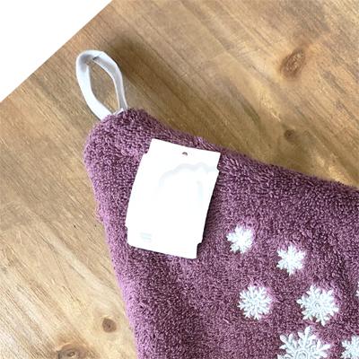 クリスマス・雪の結晶円形タオル 70cmサイズ 【フランスキッチン雑貨】