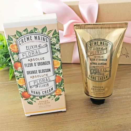 オレンジブロッサムの香り・フランスハンドクリーム75mL/南仏プロヴァンスのブランド・パニエデサンス【Panier des Sens】乾燥・保湿に。プチプラギフトにおすすめ