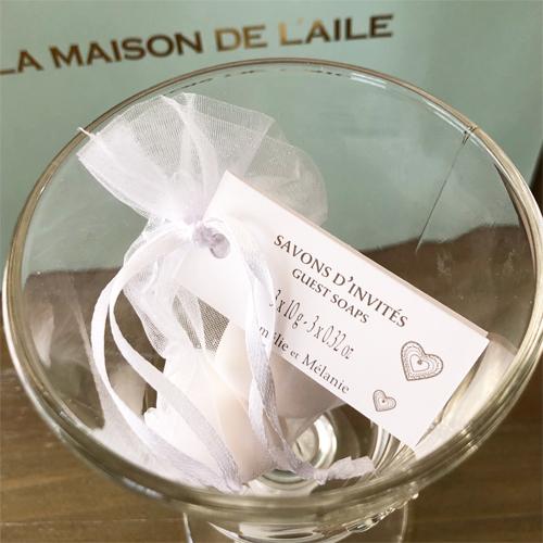<フランス製の石鹸・ボディケアブランド>アメリー&メラニー クドゥ ラムール・ハートゲストソープ(サシェ入り)<プチプラギフトにおすすめ>