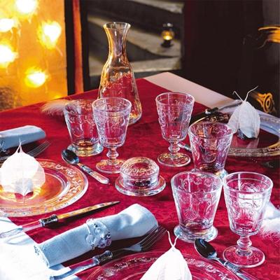 ヴェルサイユワイングラス・金巻 ヴェルサイユ宮殿をイメージしたワイングラス。フランス最古のガラス工場ラ・ロシェールのガラス。ワイングラスに。パフェグラスに。人気ブランドLa Rochere