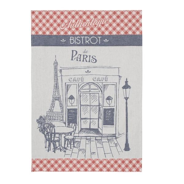 クーケ・パリのビストロ・ジャガード織りティータオル【COUCKE】レターパックライトOK