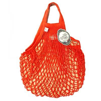 ネットバッグ|Mサイズ|オレンジ|フィルト/FILT社 【フランス雑貨】エコバッグやキッチンの野菜収納バッグに