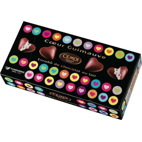 バレンタインチョコにおすすめ!季節限定フランス産・マシュマロハートチョコ 【CEMOI/セモア】|プチギフトに