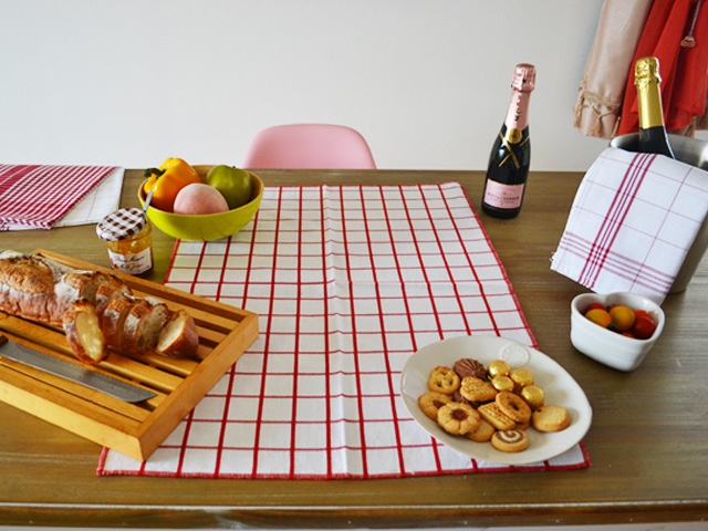 トルション KITCHEN TOWEL CLYD BALAC/ROUGE