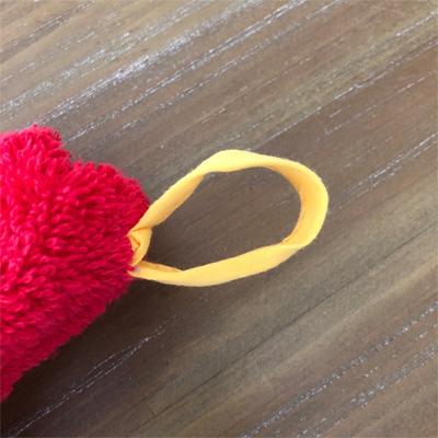 南仏プロヴァンス・ミモザの円形タオル レッド  70cmサイズ 【フランスキッチン雑貨】