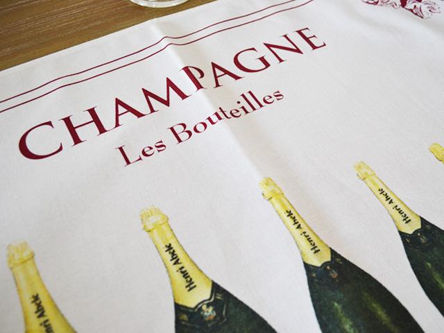 ティータオル│フランス・シャンパーニュ・シャンパンボトル│【フランス雑貨ワイングッズ/ポスター】