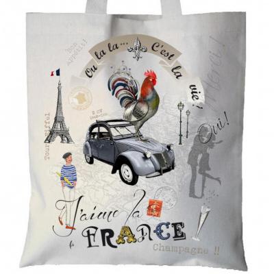 フランス製トートバッグ/France Panorama 【トルション&ブション】エコバッグに